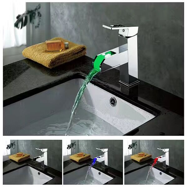 LED Water Stream temperature control Faucet Tap 3 Color
