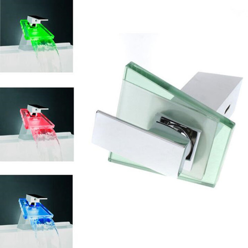 S05B Desk mount LED three color temperature control faucet battery power